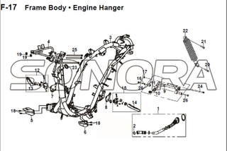 F-17 Frame Body Engine Hanger JET 14 XS175T-2 For SYM Spare Part Top Quality