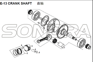 E-13 CRANK SHAFT for XS125T-16A Fiddle III Spare Part Top Quality