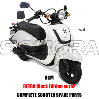 AGM Retro Black Edition SCOOTER BODY KIT ENGINE PARTS COMPLETE SCOOTER SPARE PARTS ORIGINAL SPARE PARTS