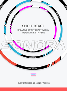 SPIRIT BEAST wheel stickers