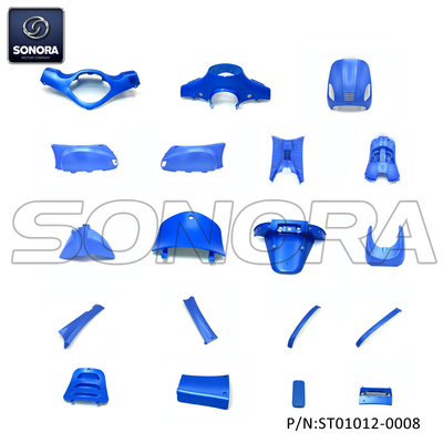ZNEN ZN50QT-30A RIVA BODY KIT(ROUND HEADLIGHT) Matt Blue 19PCS (P/N:ST01012-0008) Top Quality