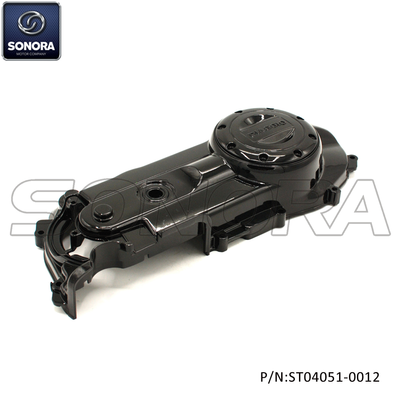 Piaggio Zip Left Crankcase engine Cover-Glossy black (P/N:ST04051-0012)top Quality